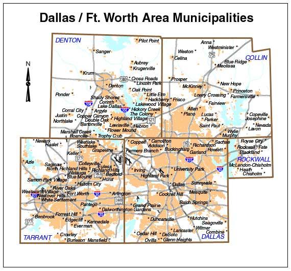 Amphibians Journal DFW Maps » DFW Ur...