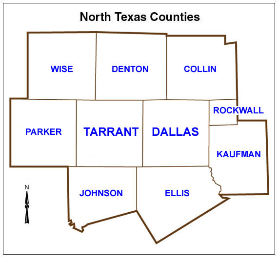 North Texas Counties