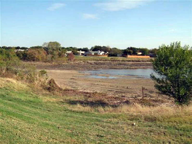 During Dredging - Another shot of the mostly drained lake, this time from near the north end.