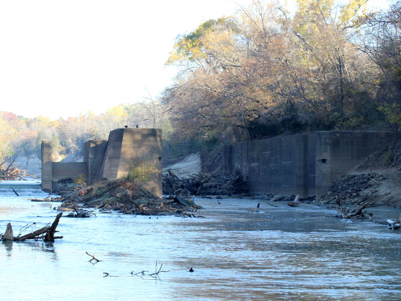 The lock is regularly clogged with snags, dead-falls, and other debris.