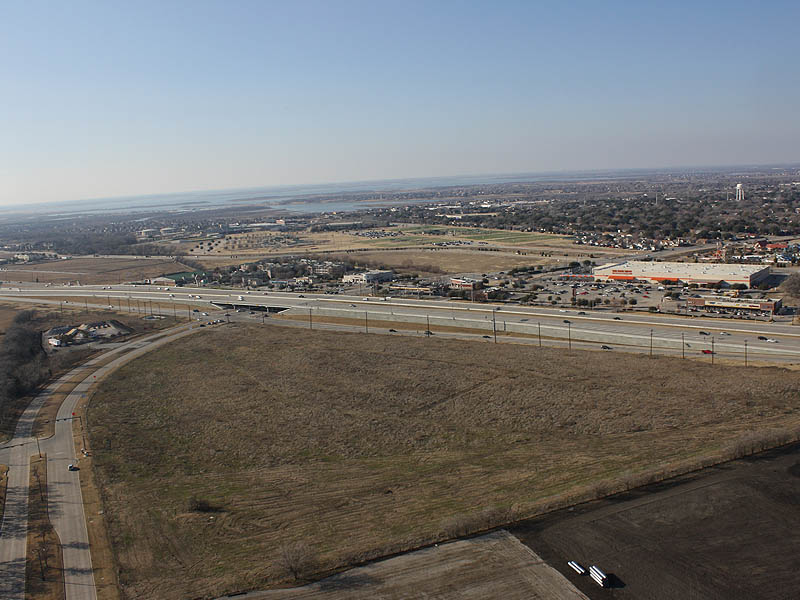 This photograph shows the view face north.  The Colony and Lake Lewisville are visible in this picture.