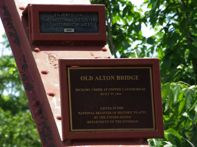 Old Alton Bridge has an important historical significance.