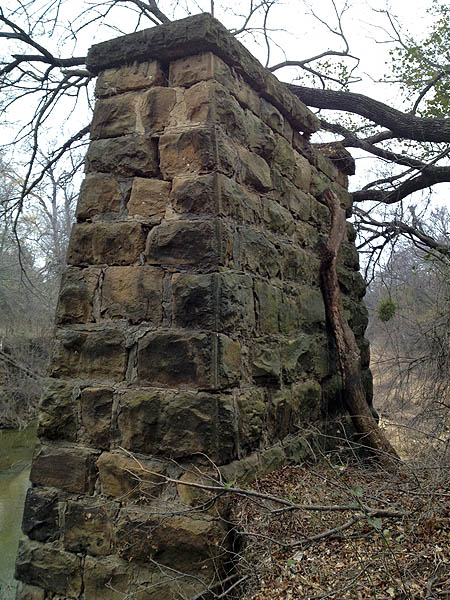 The east side abutment.