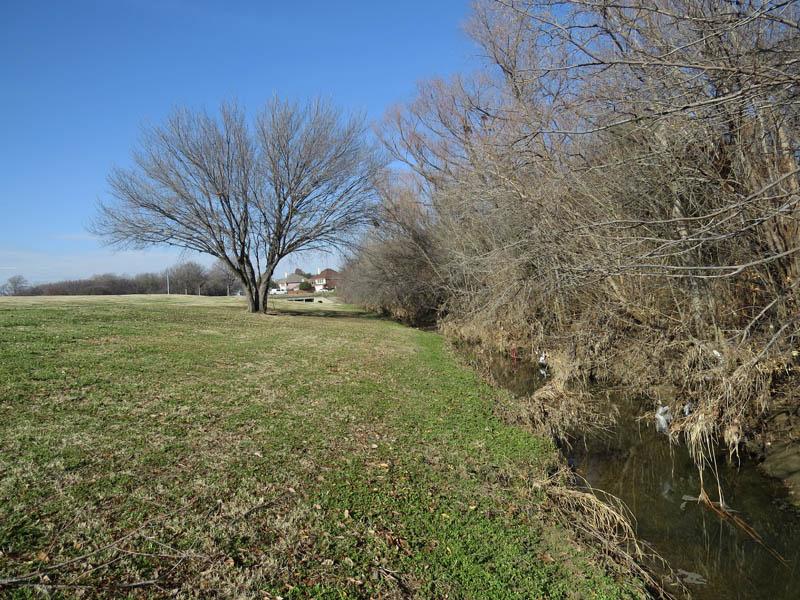 Prairie Creek now runs through a much straighter channel.