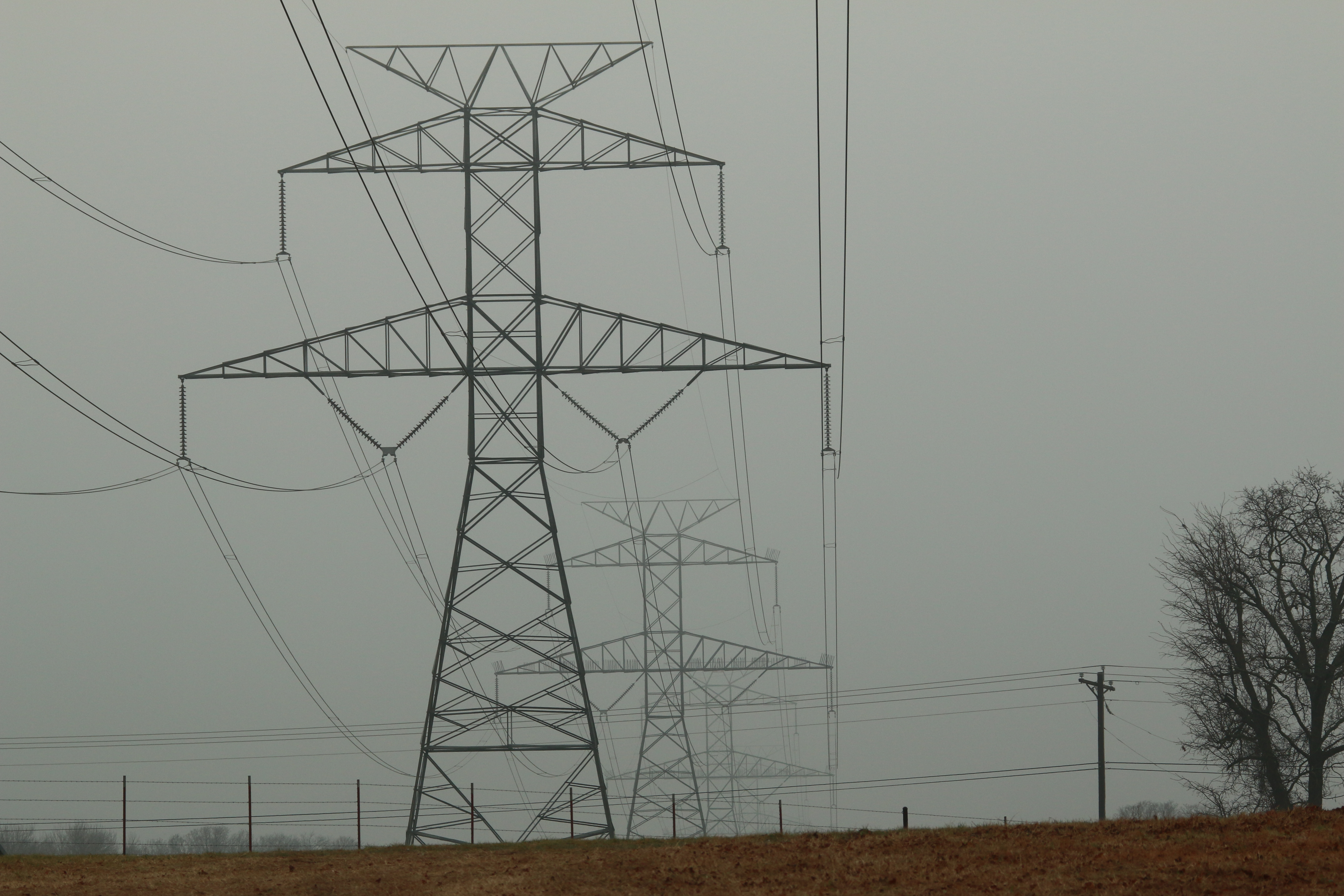 These towers supply power to major parts of southeast Dallas.
