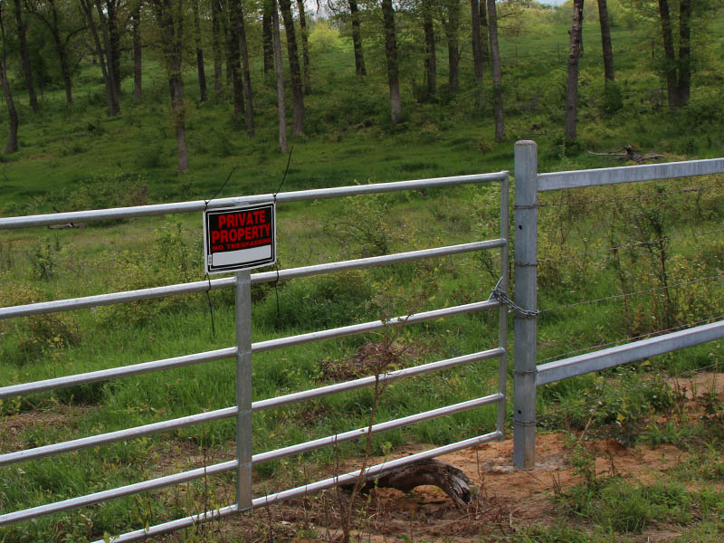 No trespassing signs were installed in response to an increasing number of incidents.