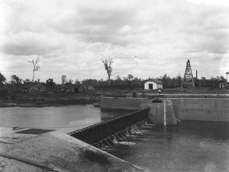 Lock and Dam Number Two circa the early 1900s.
