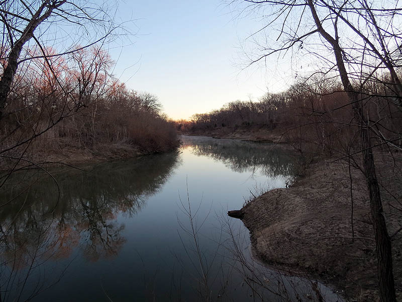 Dawn at the Trinity River.