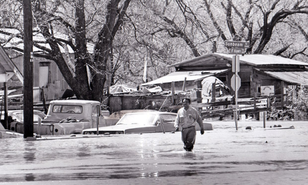 Roosevelt Heights during the destructive flooding in the 1970s.
