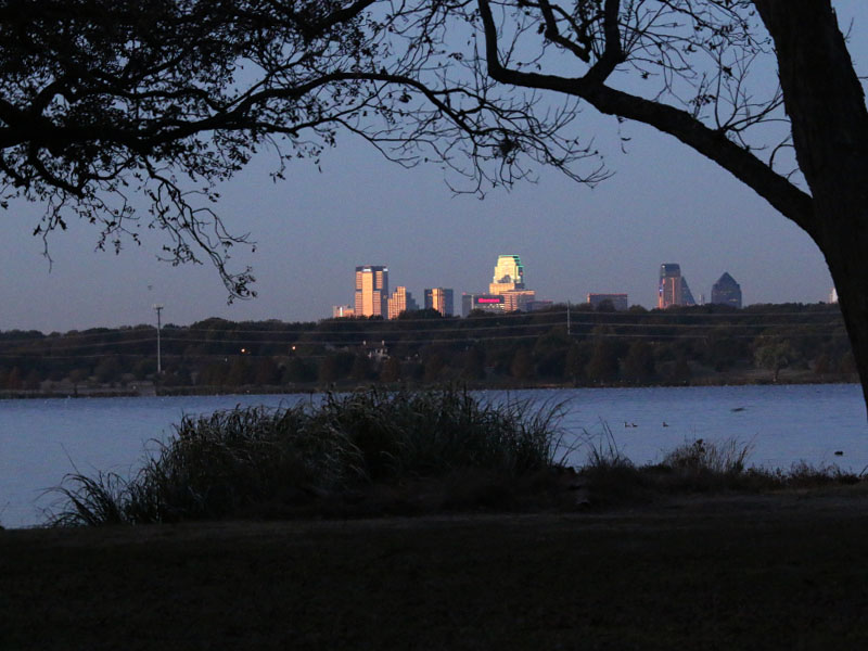 Downtown Dallas as seen from Dreyfuss Point.