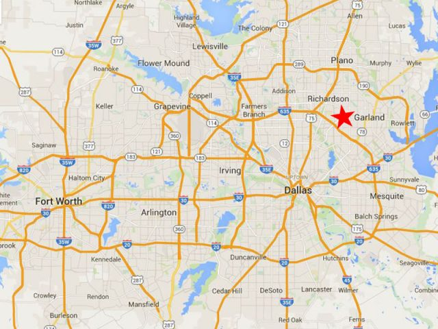 The general location of our old facility in Garland, Texas.